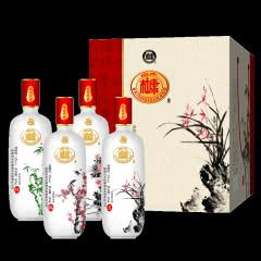 白水杜康 梅兰竹菊白酒 52度 500ml*4 礼盒装