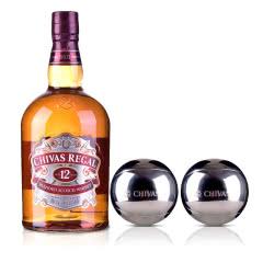 40°英国芝华士12年苏格兰威士忌1000ml+芝华士冰酒石