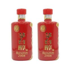 53° 茅台醇(2008) 500ml*2  双瓶装
