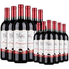 【到手12瓶】法国红酒原瓶进口超级波尔多法定产区AOC/AOP级干红葡萄酒750ml整箱装