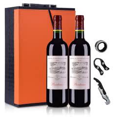 法国拉菲罗斯柴尔德尚品波尔多法定产区红葡萄酒750ml(双支礼盒装)