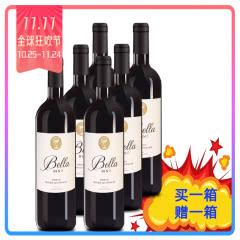 澳洲原瓶原装进口安娜贝拉BIN6西拉(SHIRAZ)干红葡萄酒750ml整箱买一赠一