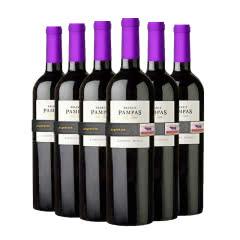 【硬核11.11】阿根廷原瓶进口红酒潘帕斯精选半干红葡萄酒红酒整箱750ml*6
