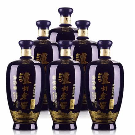 52°泸州老窖蓝花瓷头曲1L(6瓶装)