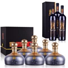 53°容大酱酒(中酱15)500ml *6+澳大利亚红酒丁戈树金标西拉干红葡萄酒750ml *3