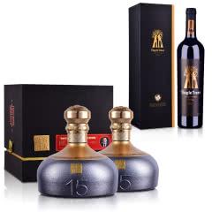 53°容大酱酒(中酱15)500ml *2+澳大利亚红酒丁戈树金标西拉干红葡萄酒750ml