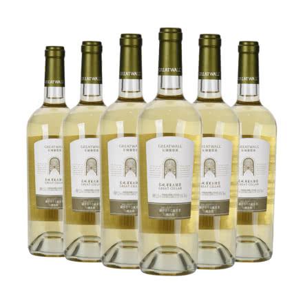 中国长城华夏大酒窖精选级霞多丽干白葡萄酒750ml(6瓶装)