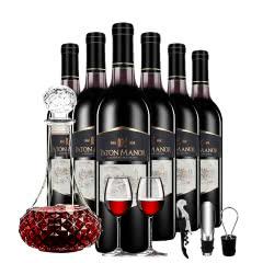 帕桐庄园圣菲堡干红葡萄酒 750ml*6整箱装送酒具六件套