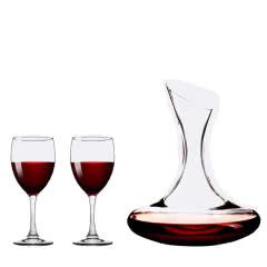 红酒酒具【醒酒器+2只高脚杯】