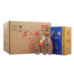 50.8°金六福九年壇川酒子母酒兼香型纯粮白酒(400ml+50ml)6瓶整箱装