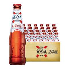 法国进口克伦堡凯旋1664啤酒 树莓果味啤酒250ml(24瓶装)