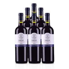 法国整箱红酒拉菲传说2016波尔多法定产区红葡萄酒750ml*6