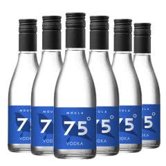 【酒商直发】 75度伏特加 慕拉出品 可调酒 也可用于杀菌消毒无需稀释187ml*6