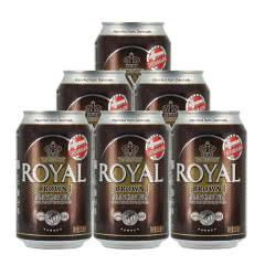 【包邮】丹麦皇家棕啤酒(新)330ml*6