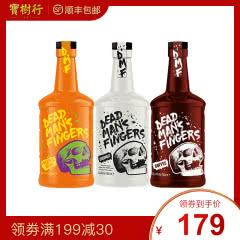37.5°死侍手指加勒比(菠萝味、咖啡味、椰子味)朗姆酒700ml*3