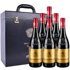 法国红酒(原瓶进口AOP级)爱龙庄园干红葡萄酒750ml*6瓶 皮质礼盒