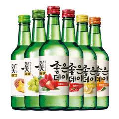 韩国清酒烧酒 好天好饮水果味洋酒 原瓶原装进口配制酒 混合装360ml*6瓶