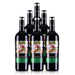 法国原瓶进口整箱红酒2015年份茉莉花超级波尔多干红葡萄酒750ml*6