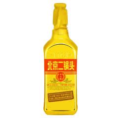 46°永丰牌北京二锅头出口型小方瓶金瓶土豪金 永丰二锅头低度粮食酒500ml单瓶装