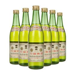 50° 山西杏花村汾酒 复古高度竹叶青酒500ml(6瓶装)