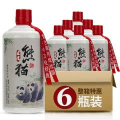 53°贵州酱香型熊猫酒53度纯粮酿造原浆老酒高粱白酒500ml*6