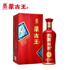 蒙古王42度喜宴单瓶500ml浓香型婚宴庆纯粮酿内蒙古草原特产白酒