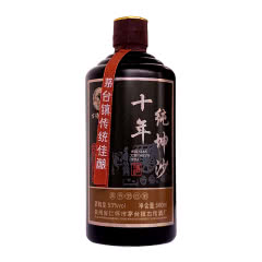 53° 贵州茅台镇 纯粮食酱香型白酒 纯粮食老酒十年纯坤沙 白酒特价500ml*1