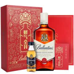 百龄坛财气全开礼盒(特醇威士忌700ml+12年威士忌50ml)