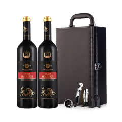 匈牙利进口红酒辉煌埃格尔公牛血干红葡萄酒双支礼盒750ml*2