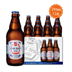 桂林特产漓泉1998小度特酿啤酒296ML *12瓶