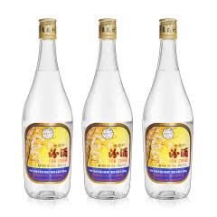 53°山西杏花村 出口玻璃瓶汾酒  清香型白酒 500ml*3瓶 【2014年老酒】