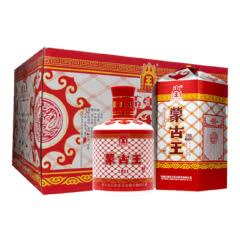 内蒙特产蒙古王42度红包浓香型纯粮食白酒475ml 6瓶整箱