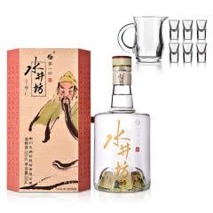 52°水井坊·三国系列(义勇仁)500ml+白酒玻璃酒具套装(7件套)