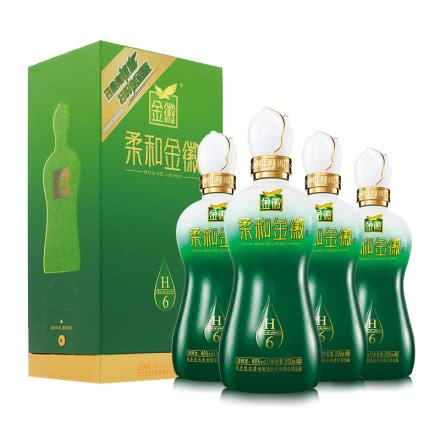46°金徽酒柔和H6 500mL*4整箱装甘肃名酒浓香型纯粮白酒