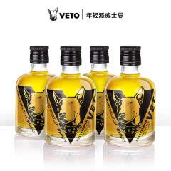 VETO调和威士忌小圆瓶  获奖版 100ml*4瓶