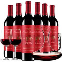 璞立酒庄加州赤霞珠红葡萄酒美国原瓶进口红酒整箱装750ml*6