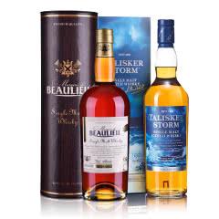 45.8°泰斯卡风暴系列单一麦芽苏格兰威士忌 700ml++44°法圣古堡侯爵世家单一麦芽威士忌700ml