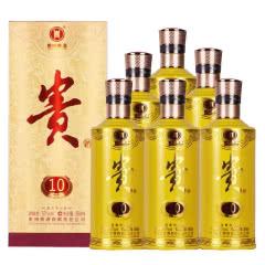 53°贵州贵酒10年窖藏 酱香型白酒500ml*6瓶装