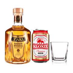 40°TAKI达奇威士忌700ml+四方古典玻璃杯+科罗斯德式经典拉格啤酒330ml(金罐)