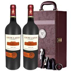 路易拉菲Louis Lafon原酒进口2009干红葡萄酒12度750ml*2两支礼盒装
