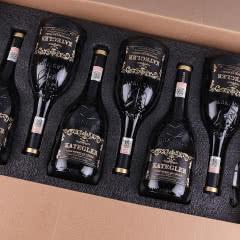 【红酒礼盒】法国进口红酒15度老藤珍酿AOP级浮雕手握瓶干红葡萄酒整箱750ml*6瓶