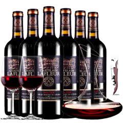 法国进口红酒拉斐庄园2008珍酿原酒进口红酒特选干红葡萄酒整箱750ml*6醒酒器装