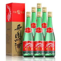 55°西凤酒绿瓶高脖凤香型纯粮食白酒整箱特价500ml*6瓶