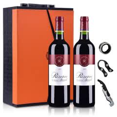 法国拉菲罗斯柴尔德珍藏波尔多法定产区红葡萄酒750ml*2(双支礼盒装)(DBR行货)