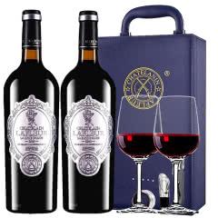 法国进口红酒拉斐天使酒园干红葡萄酒红酒两支礼盒装750ml*2