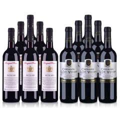 澳大利亚洛伊斯达梅洛BIN168干红葡萄酒750ml(6瓶) +法国法圣古堡圣威骑士干红葡萄酒750ml(6瓶)