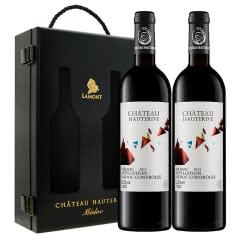【扫码价499/瓶】拉蒙法国原瓶进口梅多克产区AOC葡萄酒双支装750ml*2