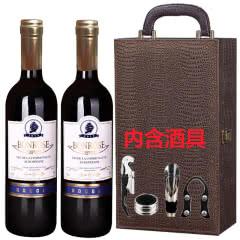 法国进口宾露干红葡萄酒红酒(蓝钻)鳄鱼礼盒装750ml*2