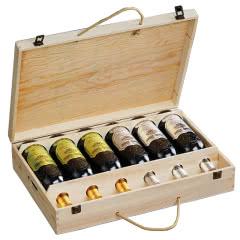 法国原酒进口红酒珍酿干红葡萄酒浮雕重型瓶木箱礼盒装整箱750ml*6瓶