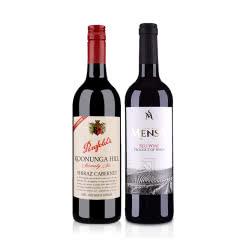 澳大利亚奔富蔻兰山设拉子赤霞珠红葡萄酒(76版)750ml+西班牙欧瑞安门萨古藤干红葡萄酒750ml